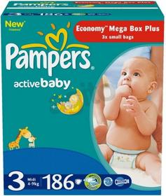Pampers Active Baby 3 Midi 186 szt.