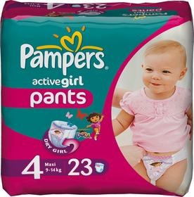 Pampers Active Girl 4 Maxi 23 szt.