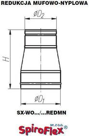 Spiroflex Redukcja mufowo-nyplowa fi 125 ocynkowana kod SX-WO125REDMN