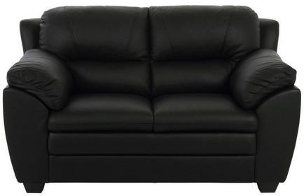 Sofa Ziva, 94x148 cm, czarny, skóra ekologiczna-Actona Company (0000043960)