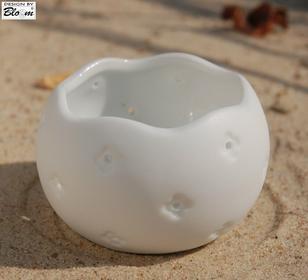 Bloom Świecznik średni porcelana
