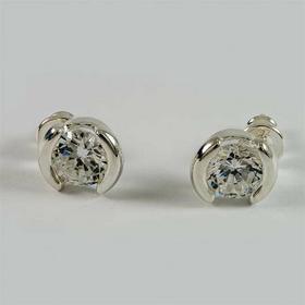 Kolczyki srebrne z cyrkoniami K18/0 (K18/0 cyrkonie)