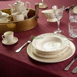 Pickman La Cartuja de Sevilla Imperio Blanca Serwis obiadowy 56 elementy dla 12