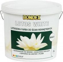 Bondex Farba akrylowa Lotos White 5L biała matowa 351324