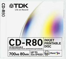 TDK Płyty CD-R 700MB 52x 100szt. do Tak