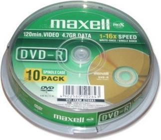 Maxell plyta DVD-R 4,7 16x Szpula 10 275593.30.TW