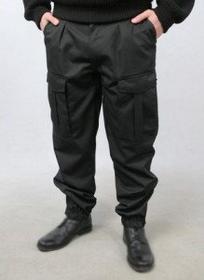 Spodnie moro czarne wzór POLICJA