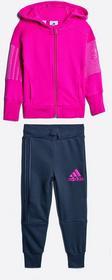 adidas Performance - Komplet dresowy dziecięcy 98-164 cm. różowy AJ6517