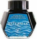 Waterman Atrament w butelce - kolor niebieski South Sea - S0110810