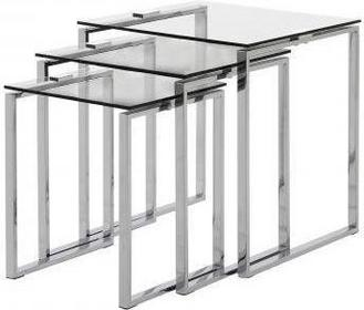 Actona Office Loft Zestaw dwóch szklanych Stolików kawowych 0000051092