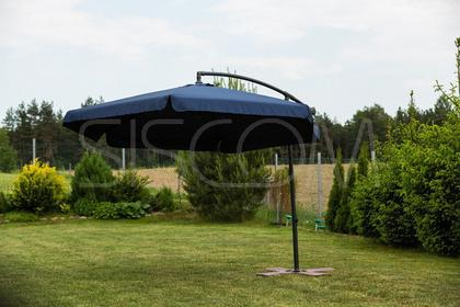 Furnide Składany Parasol Ogrodowy 300cm na wysięgniku bocznym - Granatowy - STAB