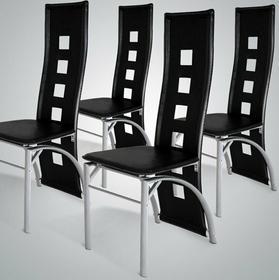 jago ZESTAW 4 KRZESEŁ krzesła do jadalni SKÓRA