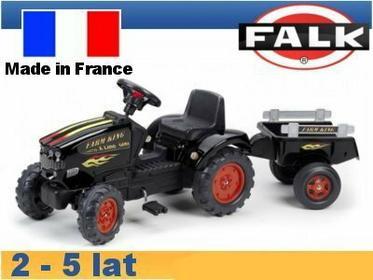 Falk Traktor Farm King z przyczepą FA1065C