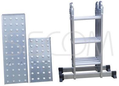 fc pl Drabina Aluminiowa 4x3 z podestami