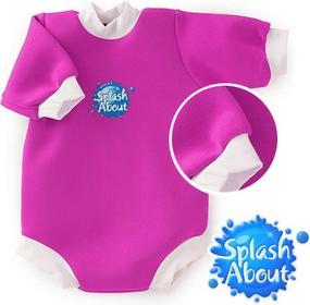 Splash About Neoprenowy mini-kombinezon pływacki Baby Snug - różowy