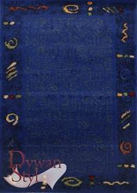 DywanStyl.pl Magic Paint niebieski 190x190 Okrągły