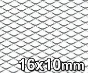 GJK Styling Siatka tuningowa Srebrna 16mm x 10mm 100cm x 30cm SILV 16X10 30X100