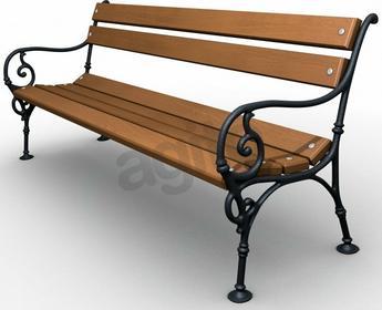 Baster Ławka ogrodowa żeliwna wiedeńska + poduszka gratis