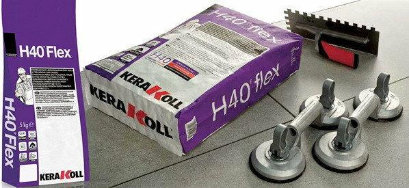 Kerakoll Klej elastyczny H40 Flex BIAŁY 25kg - Klej elastyczny do płytek ceramic