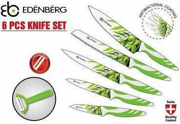 Zestaw noży STALOWO-ceramiczneCH EDENBERG 6 ELE. [7771] EB-7771