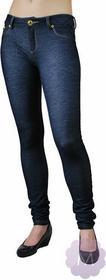 Redial Elastyczne spodnie leginsy niebieskie rurki z wyższym stanem