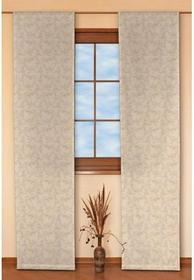 Dekoria Panel 2 sztuki Arcana beżowe tło,żakardowe kwiaty