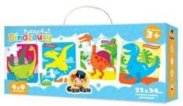 Czuczu Puzzle 4w1 Dinozaury CZ-6238