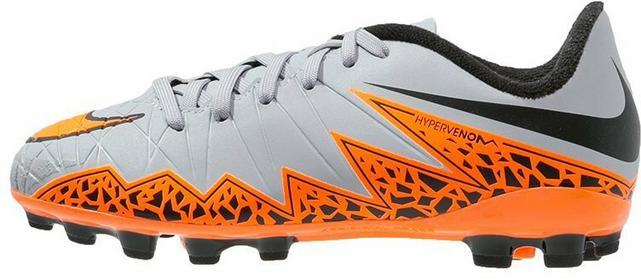 Nike Performance HYPERVENOM PHELON II AG Korki Lanki wolf grey/total orange/blac
