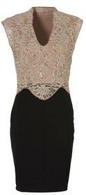 Bonprix Sukienka czarno-beżowy 943515