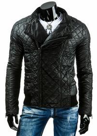 Męska kurtka przejściowa czarna (tx1035)