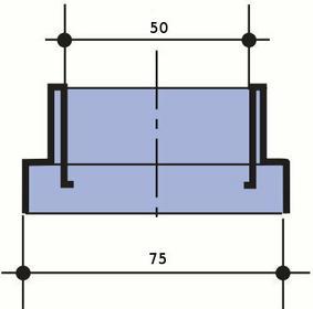 Wavin redukcja 75/50 System rynnowy KANION 70 (3060471834)