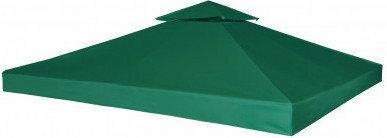 Zadaszenie namiotu ogrodowego 270 g/m2 Zielone 3 x 3 m