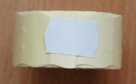 Rolka do metkownicy dwurzędowej - 2,6x1,6cm biała falista 00663