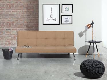 Beliani Sofa z funkcją spania beżowa - kanapa rozkładana - wersalka - HASLE beżowy