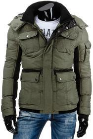 Męska kurtka zimowa oliwkowa (tx0991) - oliwkowy