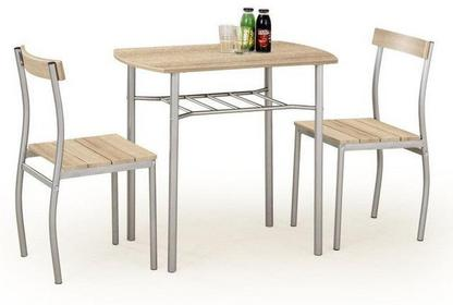 Halmar Stół z krzesłami LANCE + 2 krzesła (dąb sonoma)