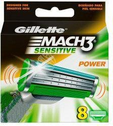 Gillette Mach 3 Sensitive Power (M) wkład do maszynka do golenia 8 szt