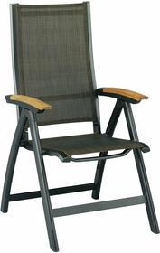 Kettler Fotel wielopozycyjny grafit/teak AVANCE 0100101-7200