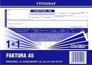 Typograf Druk Faktura VAT Netto A5 1124 TP012