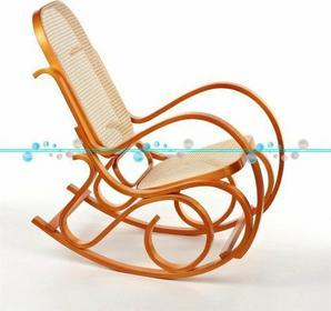 Calviano Fotel bujany wyplatany Jasne drewno - Rafia - Fotel bujany wyplatany Ja