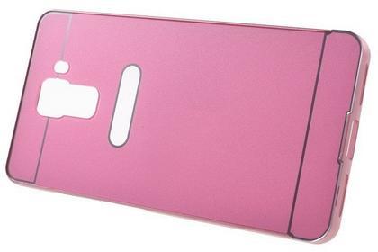 XGSM Różowe Etui Metal Bumper Plastic Cover HUAWEI Honor 7 Różowy