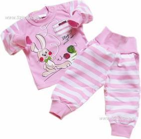 Dresy dziecięce bluza i spodnie Króliczek różowy 68