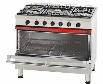Bartscher 5-palnikowa kuchnia gazowa z dużym piekarnikiem gazowym BT2004551