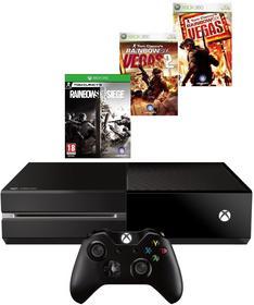Microsoft Xbox One 1TB Czarny + Rainbow 6 Siege + Rainbow 6 Vegas & Vegas 2