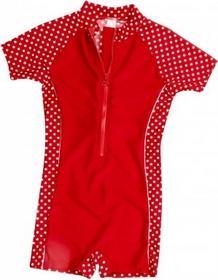 Playshoes Jednoczęsciowy strój kąpielowy kolor czerwony, kropki