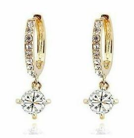 Kolczyki koła CYRKONIE Swarovski kryształ (złote)
