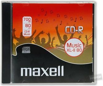 Maxell CD-R 700 MB AUDIO XL II JEWELCASE Pudełko 624880.40