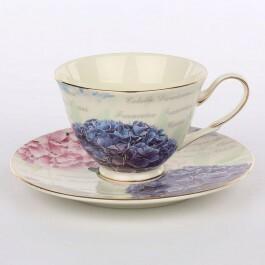 Altom Zestaw do kawy dla 6 osób porcelana Hortensja 12 el.)