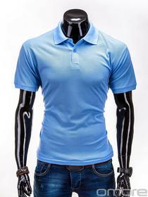 Ombre Clothing T-SHIRT S519 - BŁĘKITNA