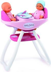 Smoby Baby Nurse - Krzesełko dla lalki do karmienia bliźniąt, kołyska 2w1 24218